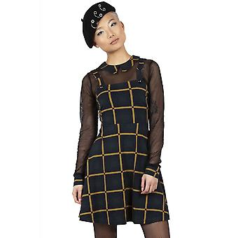 Jawbreaker Clothing Head In The Clouds Plaid Overall Dress