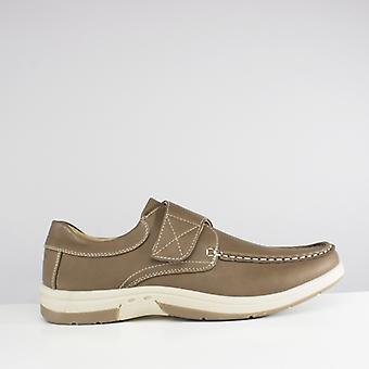 Dr Keller Ant Mens Touch Fasten Casual Shoes Tan