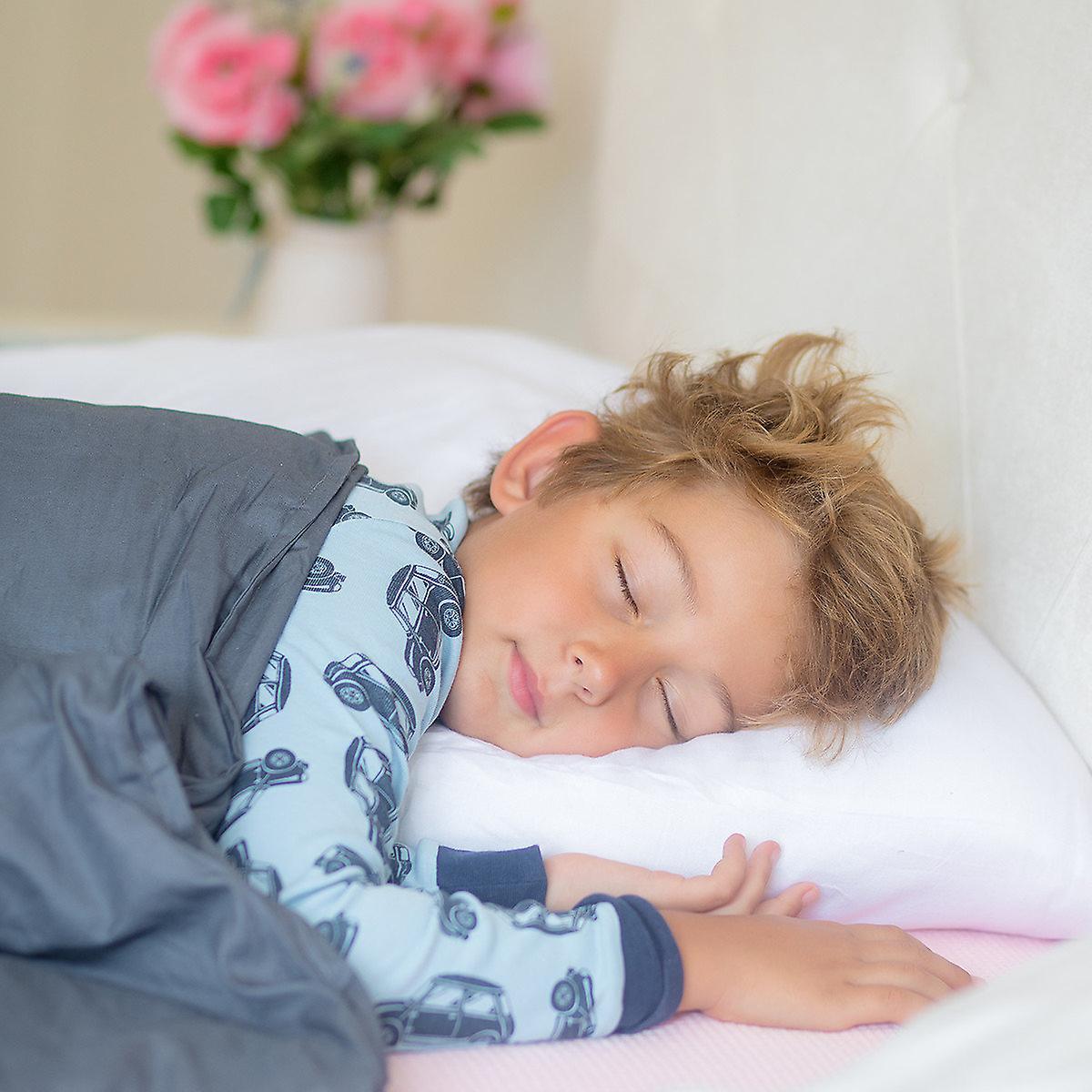 Snipe poids Couverture pour enfants 2,6 kg de satin de coton gris - exempt de polyester