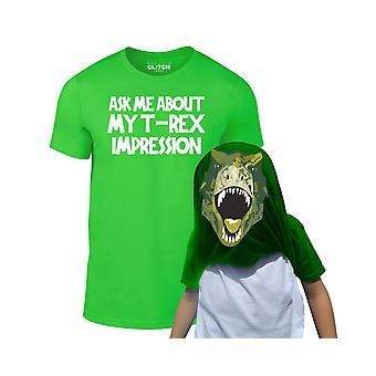 Lapset kysyvät minulta t-Rex Flip t-paidasta
