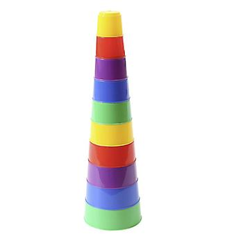 Polesie stacking pyramid 35110, 10-piece stacking tower, colorful cup, height 41.5 cm