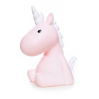 Unicorn LED lamp Pink Unicorn mood lamp pink, 100% PVC, lights in different colors, battery operated.