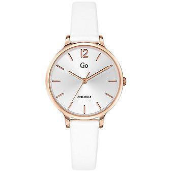 Montre Go  Girl Only 699945 - Bo�tier Acier Dor� rose Bracelet Silicone Blanc Cadran Nacr� Femme