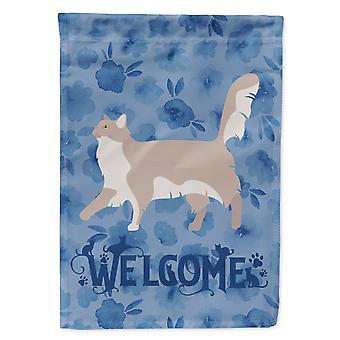 Chantilly Tiffany katt velkommen flagg Canvas huset størrelse
