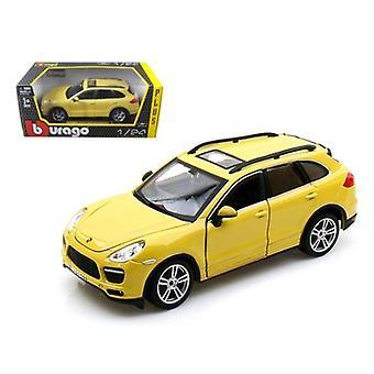 Porsche Cayenne Turbo Yellow 1/24 Diecast Car Model par Bburago
