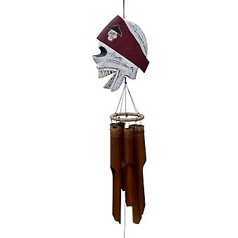 Red Pirate Head Wind Chime