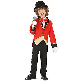 Pojat Circus ringmaster Showman Fancy Dress puku