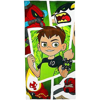 Ben 10 Childrens/Kids Frames Character Towel