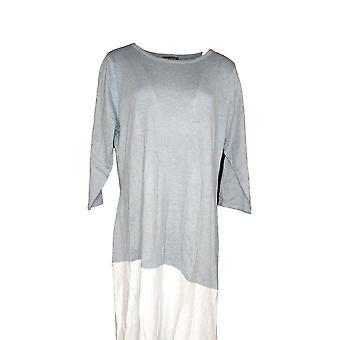 H par Halston Dress Color-Block Aymmetrical Hem Sweater Light Blue A269416