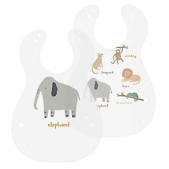 Sebra - bib - wildlife - 2 pieces