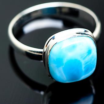 Larimar Ring Size 13.75 (925 Sterling Silver) - Bijoux Boho Vintage ring994023