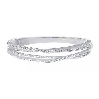 Swarovski Genius Rhodium & Clear Crystal Bangle
