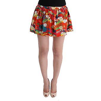 Dolce & Gabbana Multicolor Floral Print Beachwear Skirt