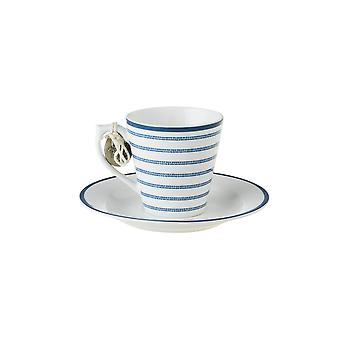 Laura Ashley Espresso Cup and Saucer, Candy Stripe