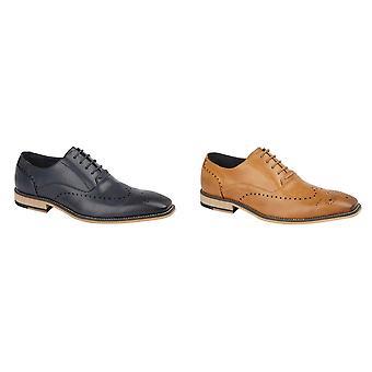 Cavani Mens 5 Eye Brogue Oxford Shoes