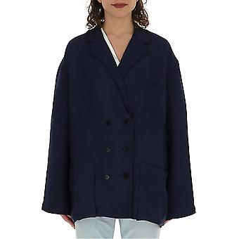 Acne Studios Ah0017 Women's Blue Cotton Outerwear Jacket