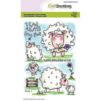 מקצועית בולים ברורים A6-כבשים 1 על ידי קרלה ריקשרי