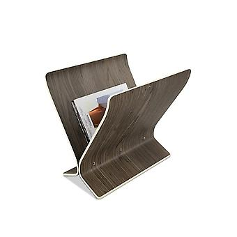 Umbra Arling Magazine Rack/Record Holder  - Walnut