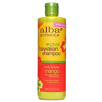 Alba botanica hawaiian shampoo, body builder mango, 12 oz