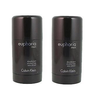 Euforie voor mannen door calvin klein 2.6 oz alcoholvrijdeodorant stick twee
