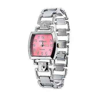 Die Olivia Collection Damen Square Rosa Zifferblatt Armband Strap Dress Watch COS50