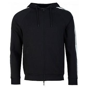 Armani Taped Logo Zip Through Hoody