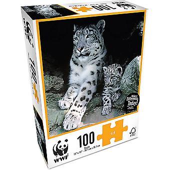 WWF 100 Stuk Puzzel - Sneeuw Leaopard
