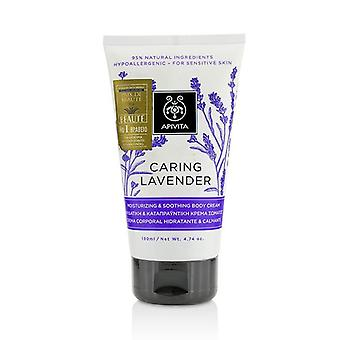 Caring Lavender Moisturizing & Soothing Body Cream - For Sensitive Skin - 150ml/4.74oz