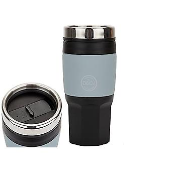 Top B&Co 400ml / 14oz Geïsoleerde Thermal Camping Hiking Travel Mug Cup - Zwart