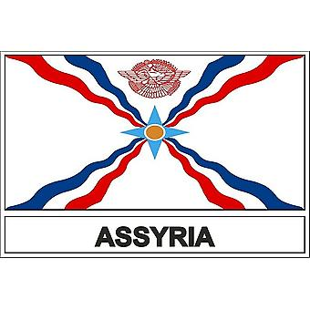 Stick sticker assyrian assyrian flag sticker