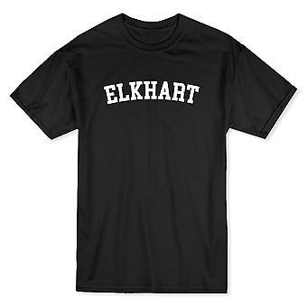 エルクハート市を示す誇りメンズ黒 t シャツ