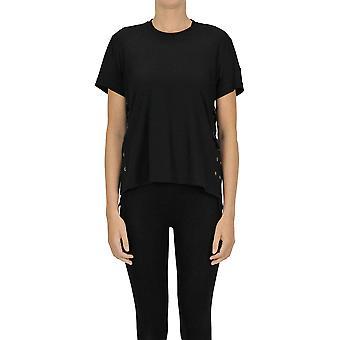 Moncler Ezgl059075 Women's Black Cotton T-shirt