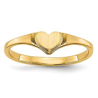 14k Sarı Altın Somgravable erkek veya kız love Kalp Yüzük Boyut 3 - 0,7 Gram