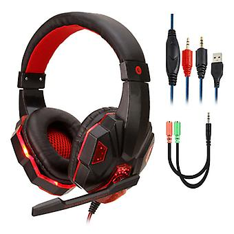 Stuff Certified® Bass HD Gaming Headset Stereo Headset Headphones with Microphone PlayStation 4 / PC Red