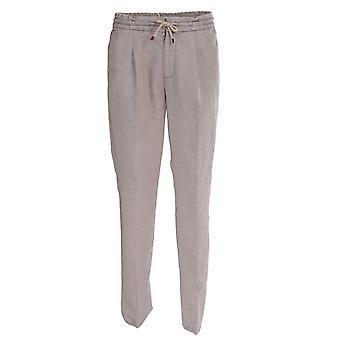 Brunello Cucinelli M291le1740c5010 Men's Grey Cotton Pants