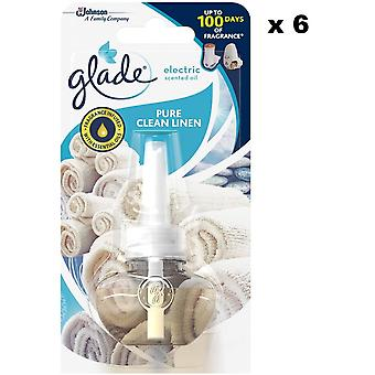 Glade Electric Plug In Refill Clean Linen 20Ml (Pack Of 6)