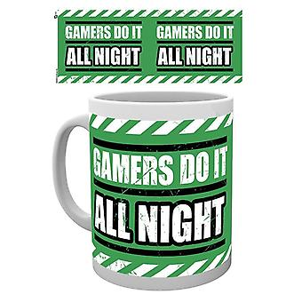 Gaming all Night Becher