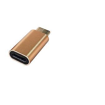 Adaptor USB-C (tată) -Fulger (mamă) - auriu