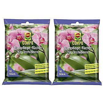 Sparset: 2 x COMPO leaf care cloths for orchids, 10 pieces