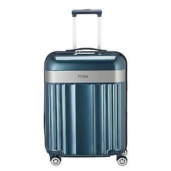 TITAN Spotlight Flash Handbagage Trolley S, 4 Wielen, 55 cm, 37 L, Blauw