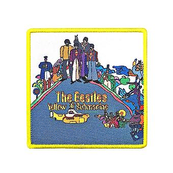 The Beatles Patch Yellow Submarine Album Cover new Official borddered Iron on
