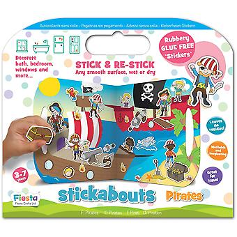 Fiesta Crafts Stickabouts Pirates