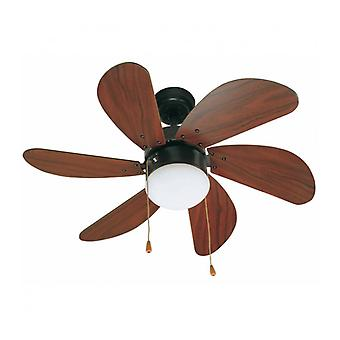 Ceiling Fan With Light Palao Brown 1 Bulb