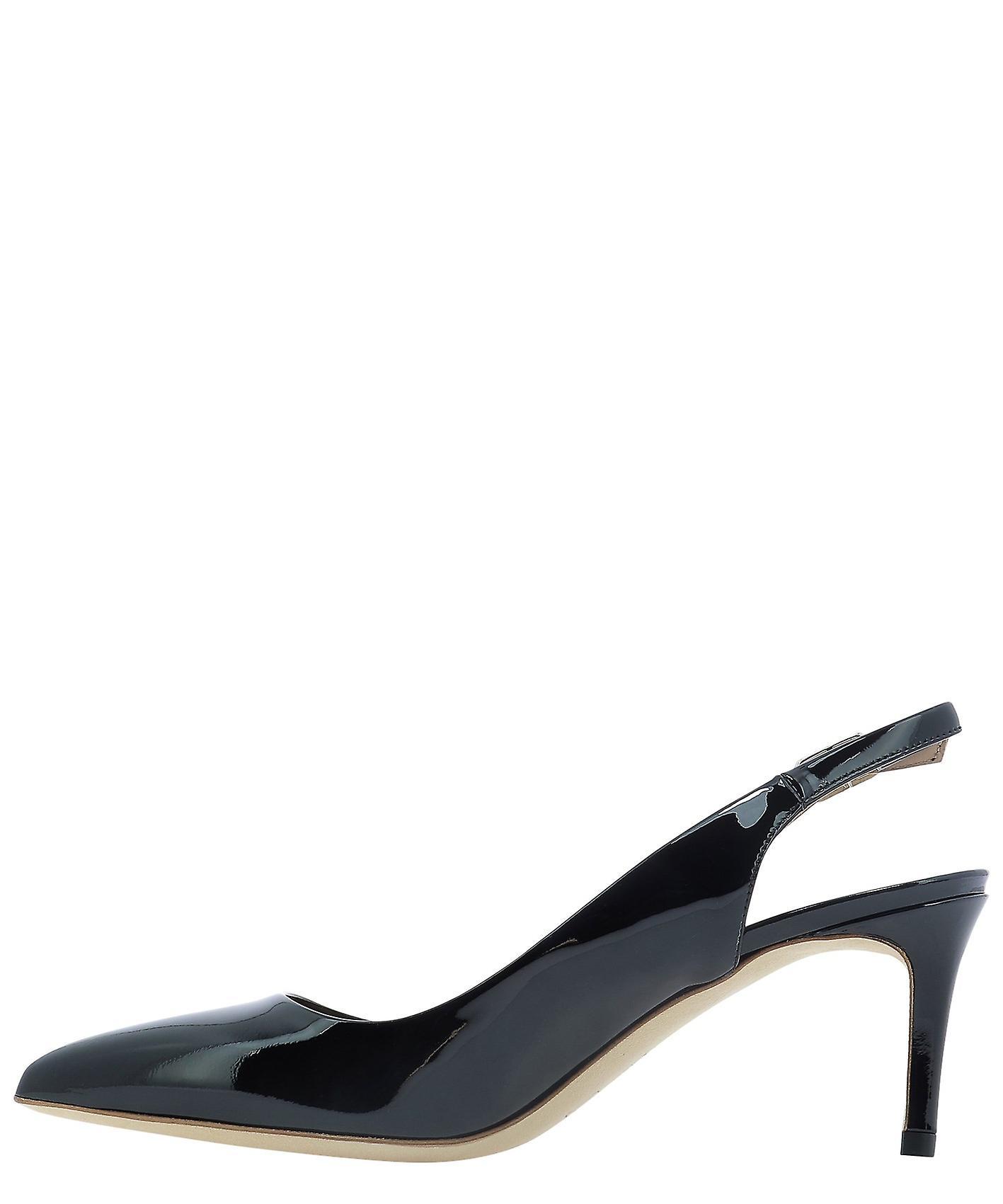 Sergio Levantesi Gemyvernicenero Women's Black Patent Leather Sandals
