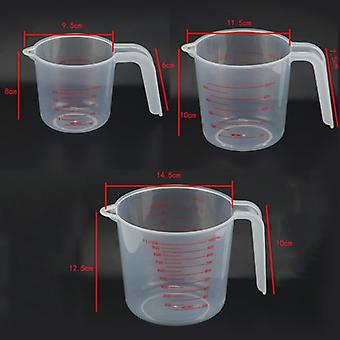 250/500/1000ML Plastic Measuring Cup Jug Pour Spout Surface Kitchen Tool Supplies Quality Cup