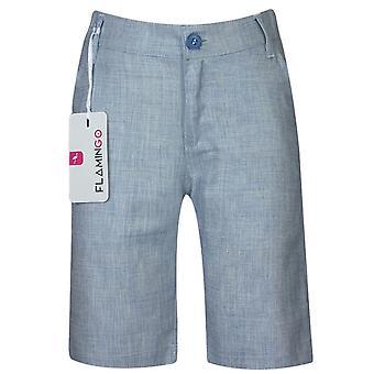 Boys Summer Linen Navy Short