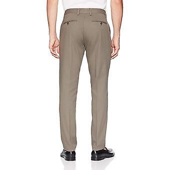 Essentials Men&s Slim-Fit Odporne na zmarszczki Płaskie spodnie Chino, Taupe, 34W x 34L
