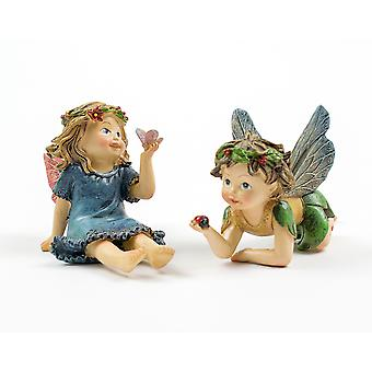7cm Resin Young Fairy Boy or Girl Character for Miniature Garden Crafts