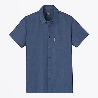 A.P.C.  - Short-sleeve Chambray Shirt - Blue