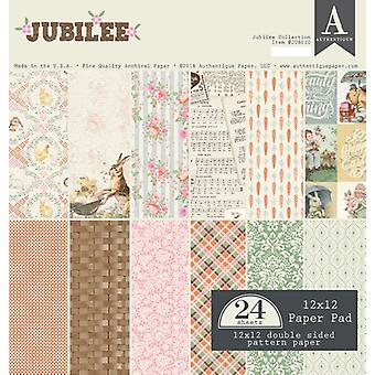 Authentique Jubilee 12x12 Inch Paper Pad
